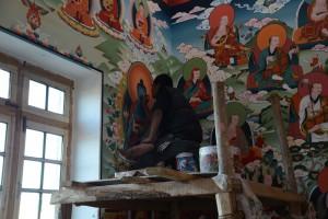 絵師、壁画を描く
