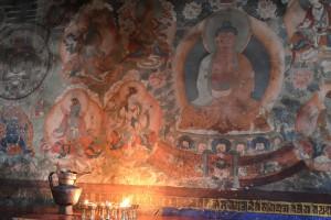 ドゥカン内の壁画、ティクセ・ゴンパ