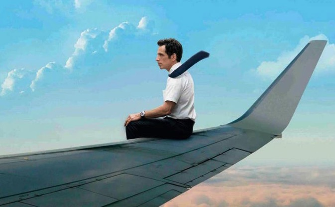 Secret life of walter mitty plane poster
