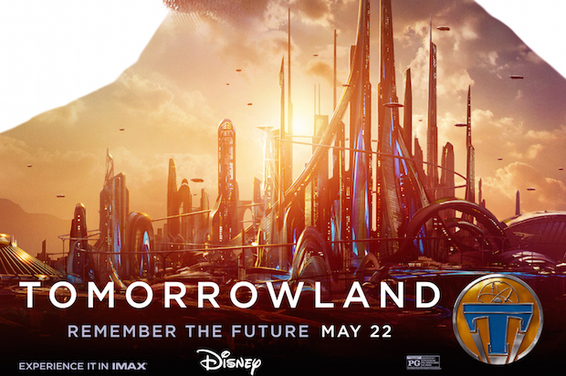 Tomorrowland poster george clooney
