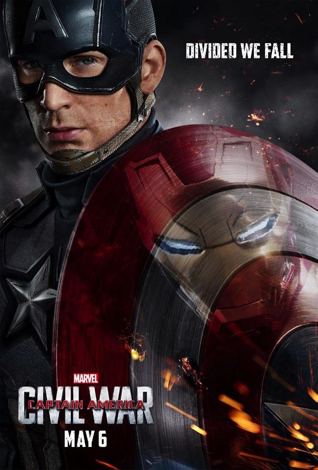 Captain america civil war poster cap