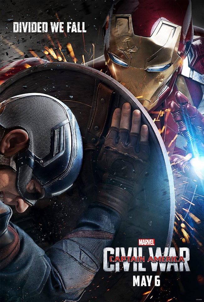 Captain america civil war poster iron man