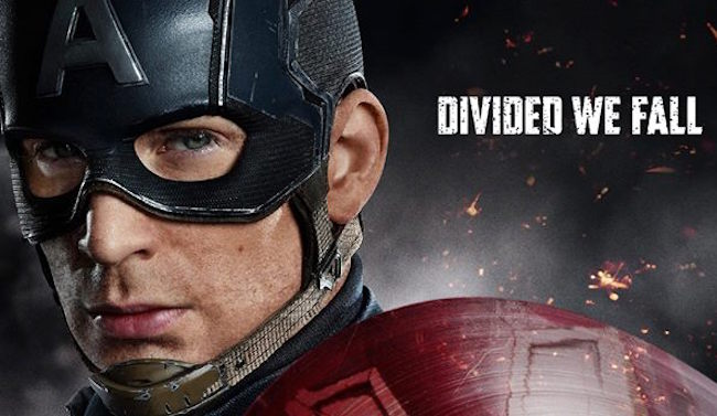 Captain america civil war poster cap