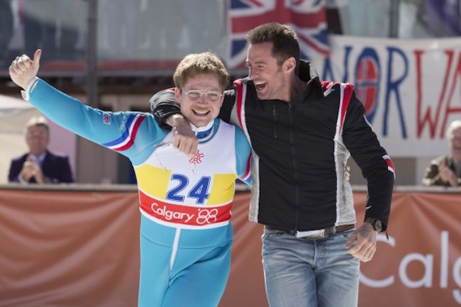 Eddie the eagle taron egerton hugh jackman 600x450 2