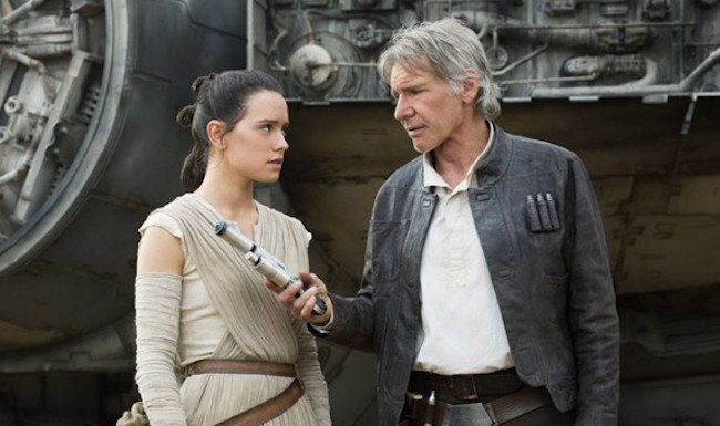 Star wars the force awakens harrison ford daisy ridley 600x422