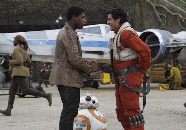 Star wars the force awakens john boyega oscar isaac 600x422