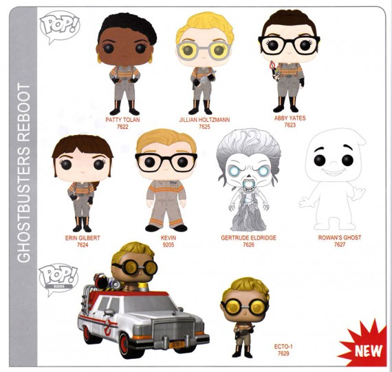 Ghostbusters funko pop toys