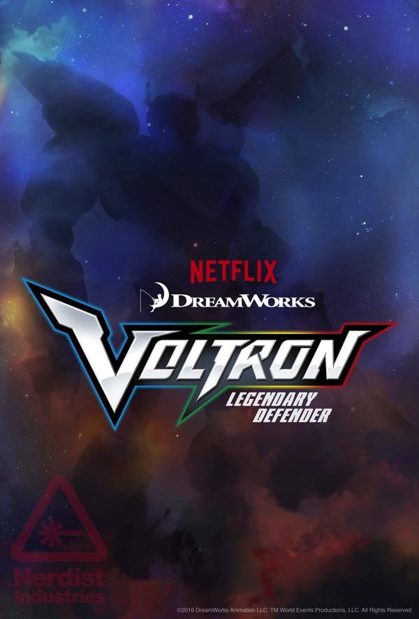 Voltron legendary defender netflix poster 2