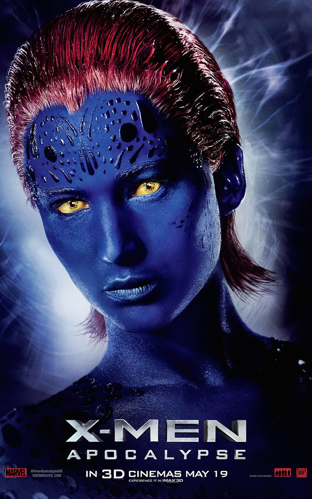 X men apocalypse poster mystique jennifer lawrence