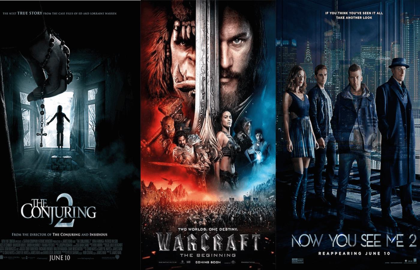全米Box Office(6/10~12):『死霊館 エンフィールド事件』が初登場首位!『ウォークラフト』は2位!!