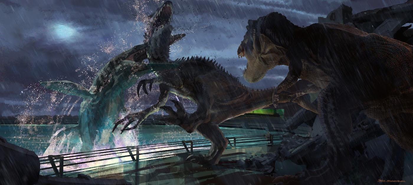 JurassicWorld MosasaurusEatsIndominusRex 1