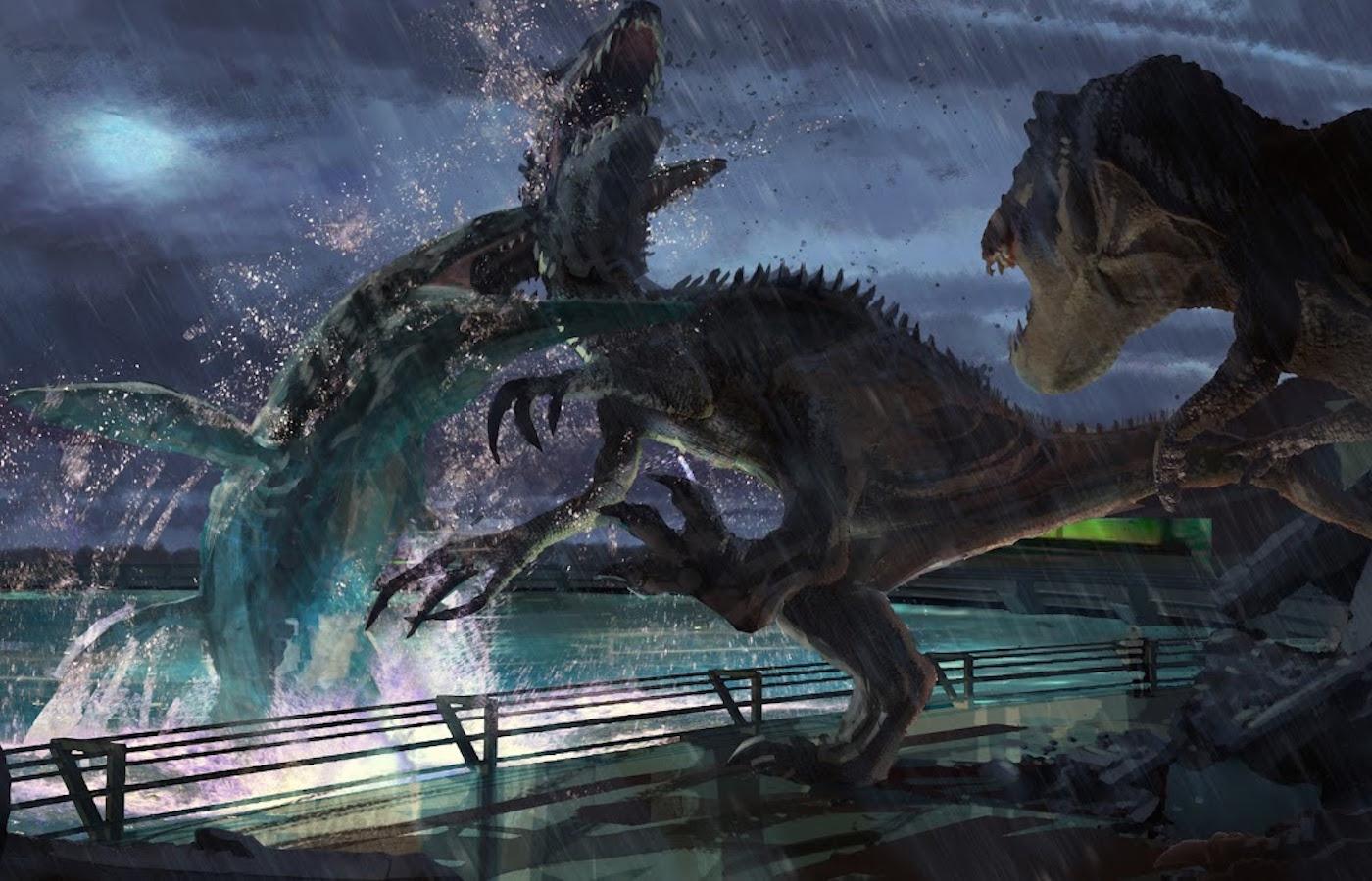 JurassicWorld MosasaurusEatsIndominusRex