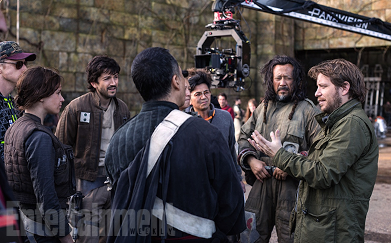 Rogue one a star wars story set photo gareth edwards