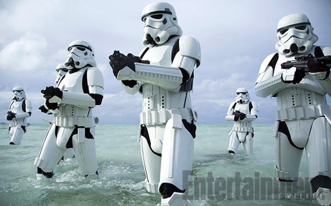 Rogue one a star wars story stormtroopers beach 1