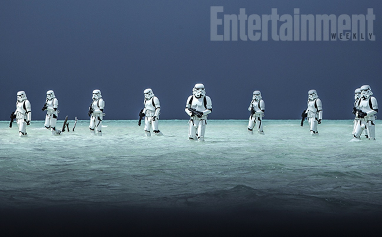 Rogue one a star wars story stormtroopers beach 2