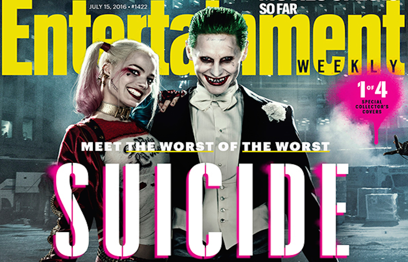 Suicide squad ew magazine cover harley joker 2