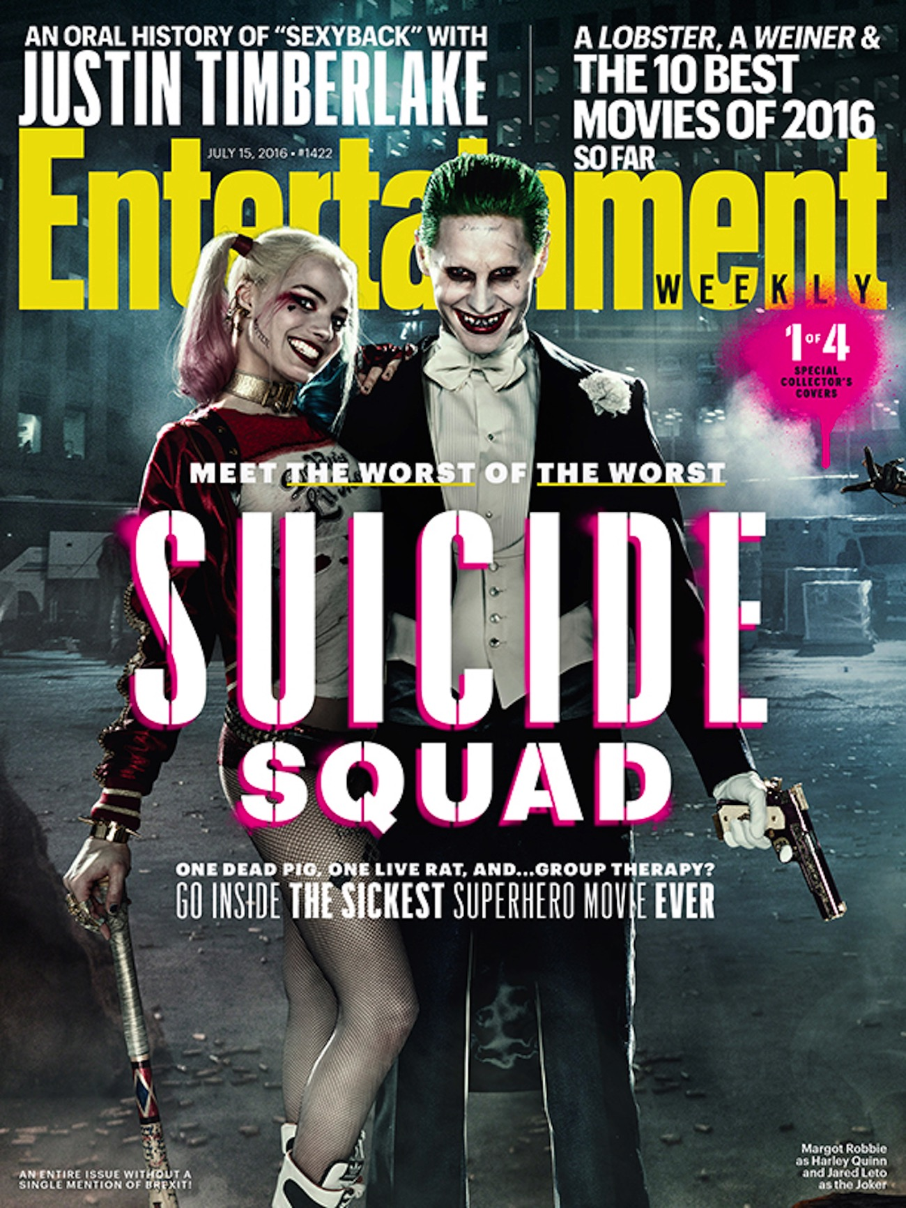 Suicide squad ew magazine cover harley joker
