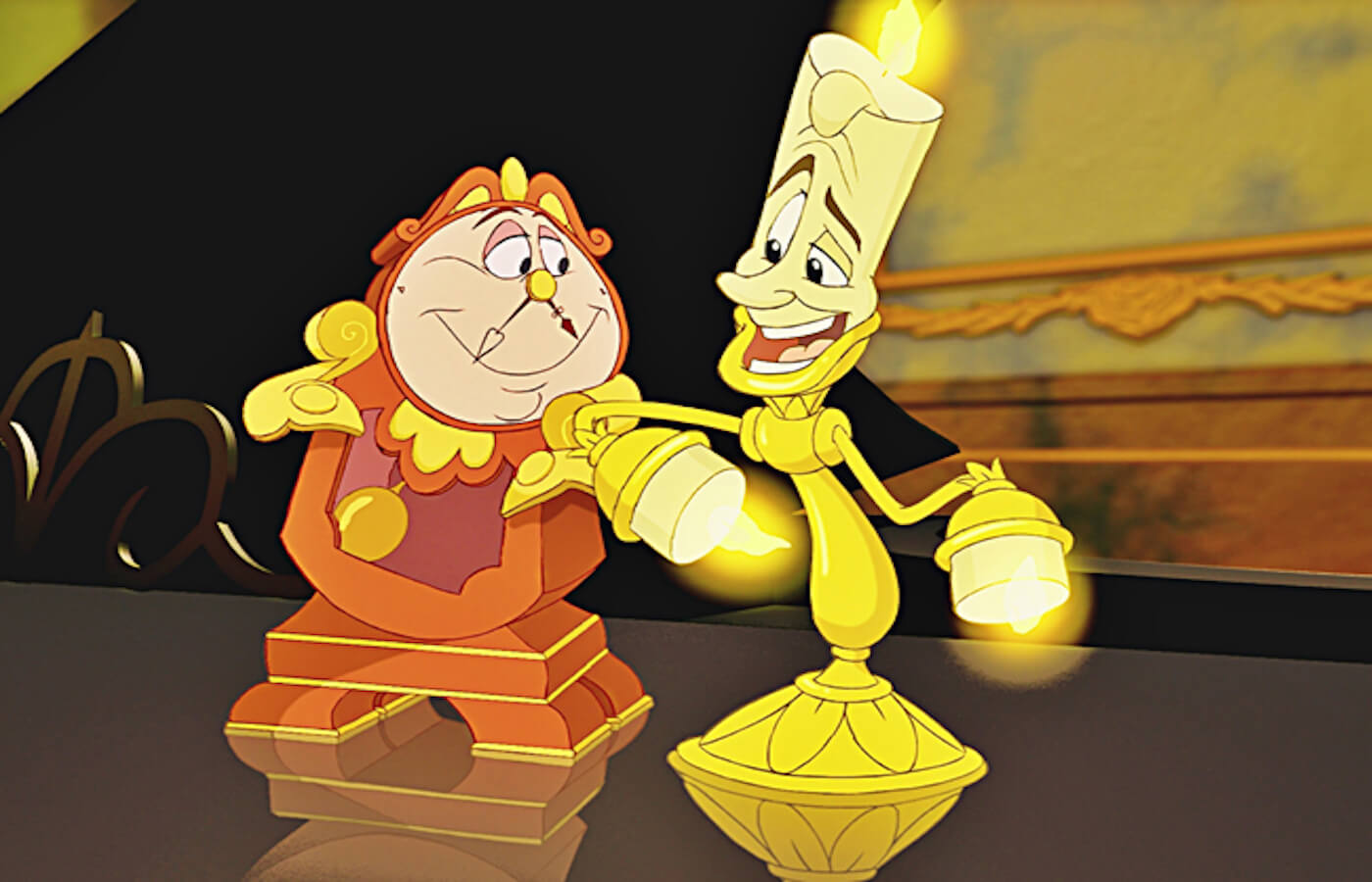 Beauty and the beast lumiere cogsworth