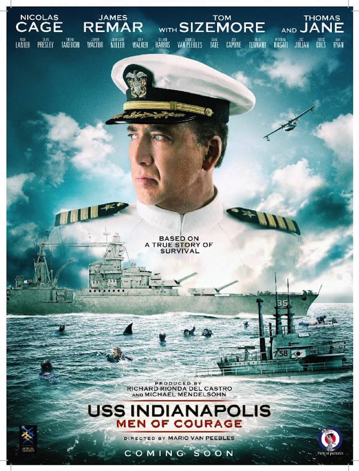 Uss indianapolis men of courage poster