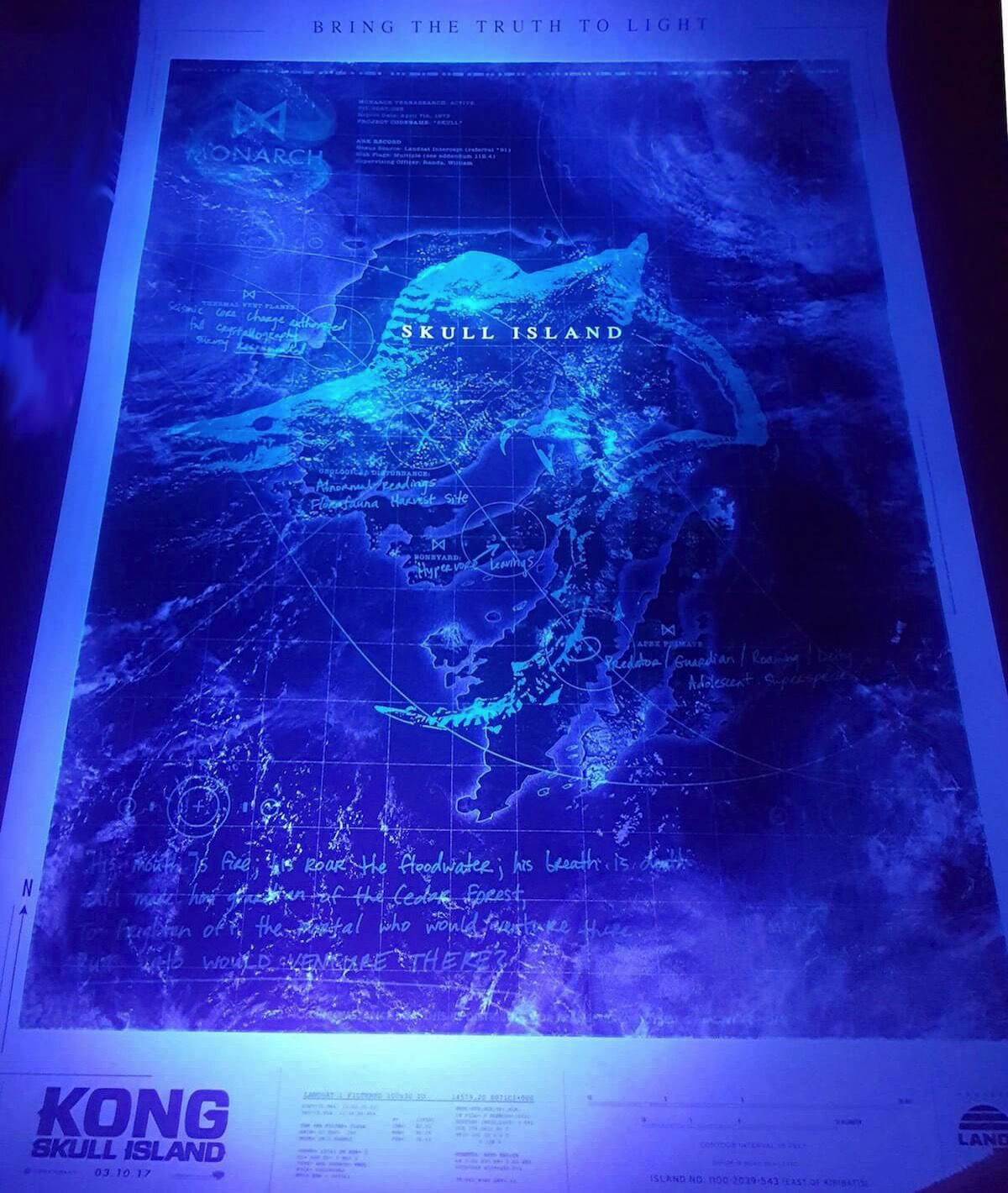 Kong skull island poster viral black light