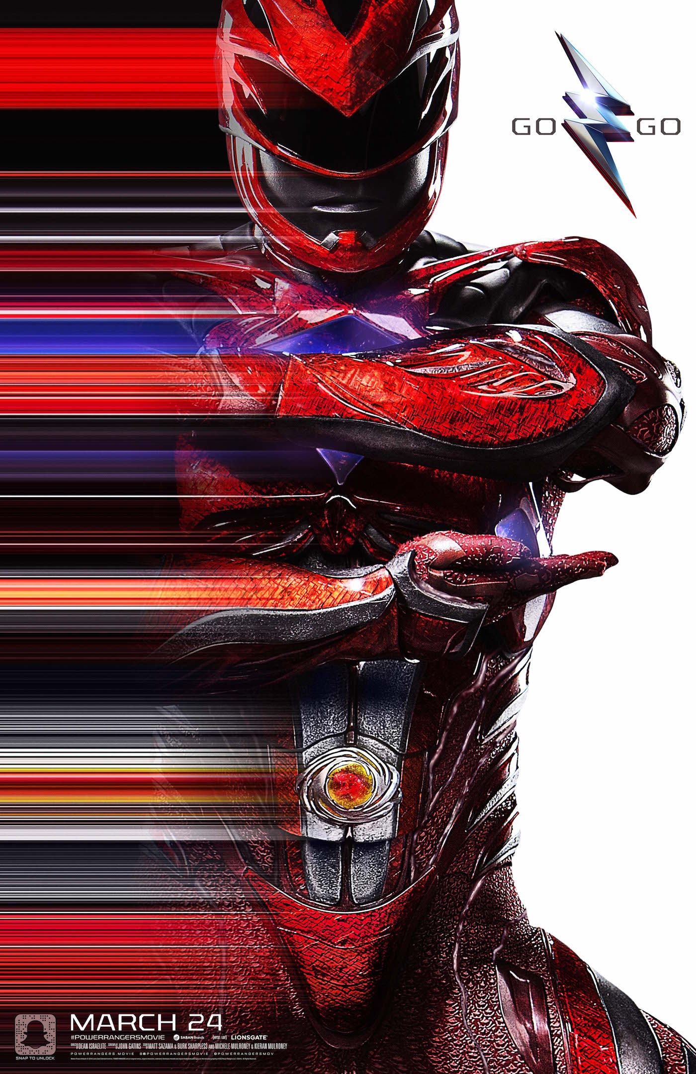 Power rangers red ranger poster dinosaur