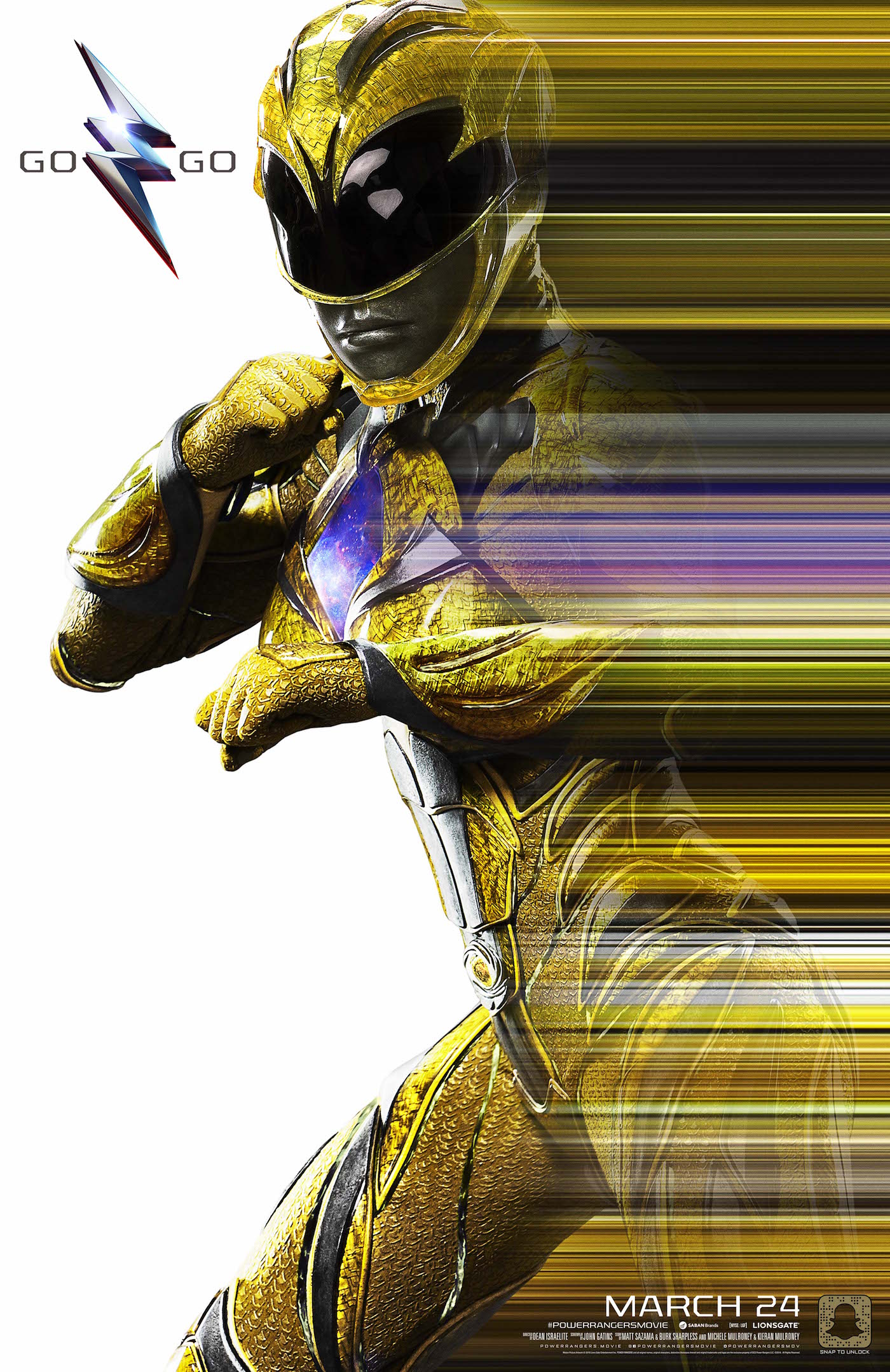 Power rangers yellow ranger poster saber tooth tiger