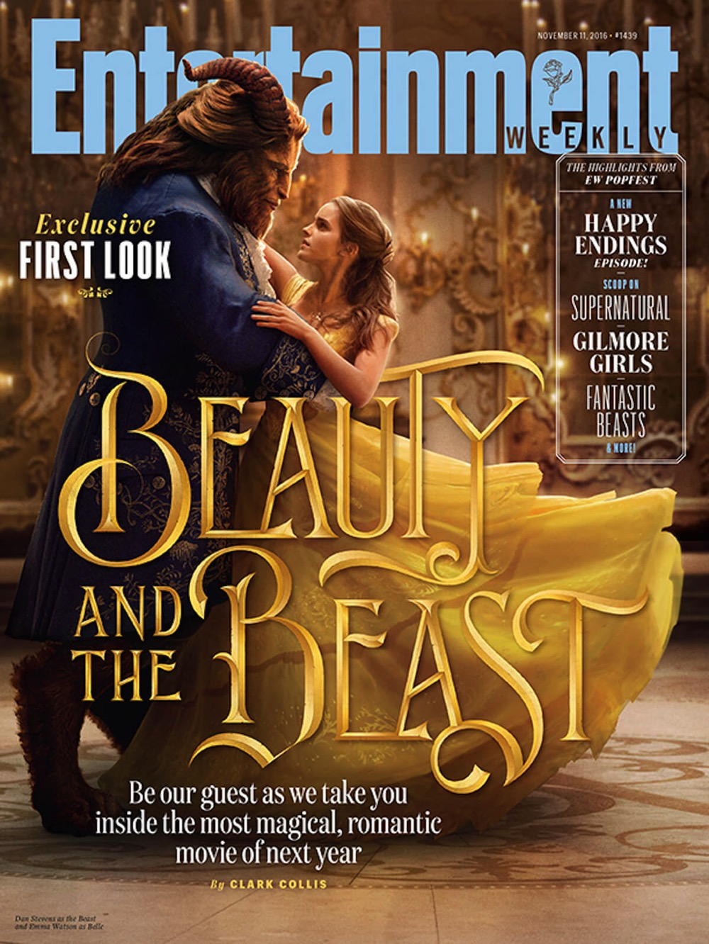 Beauty and the beast emma watson ew cover