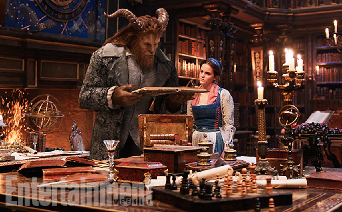 Beauty and the beast image ew dan stevens emma watson