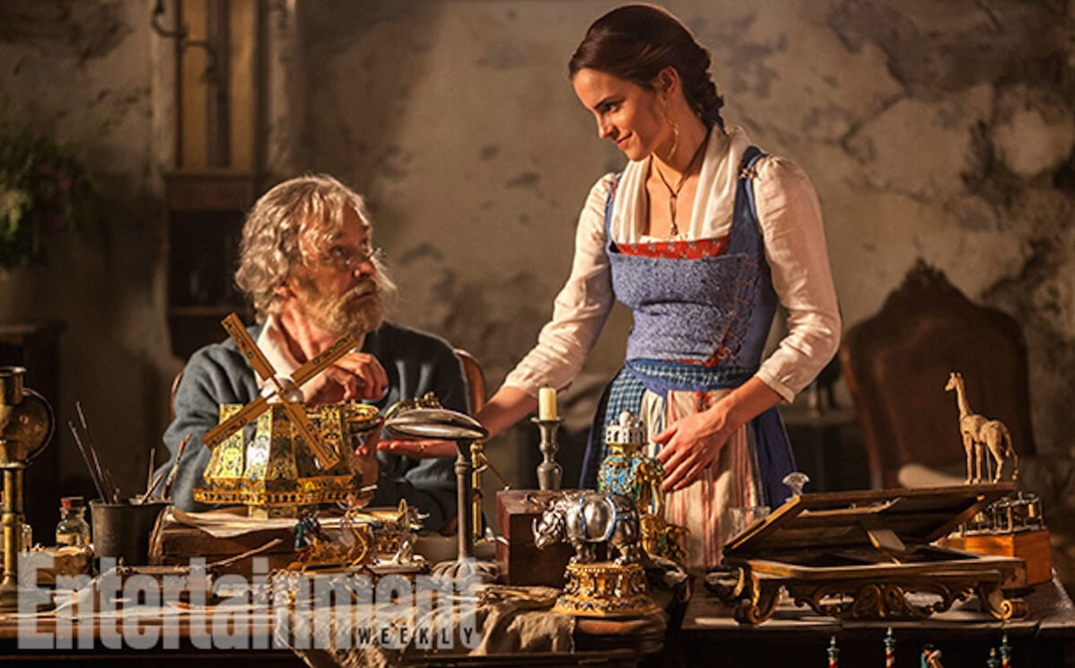 Beauty and the beast image ew kevin kline emma watson
