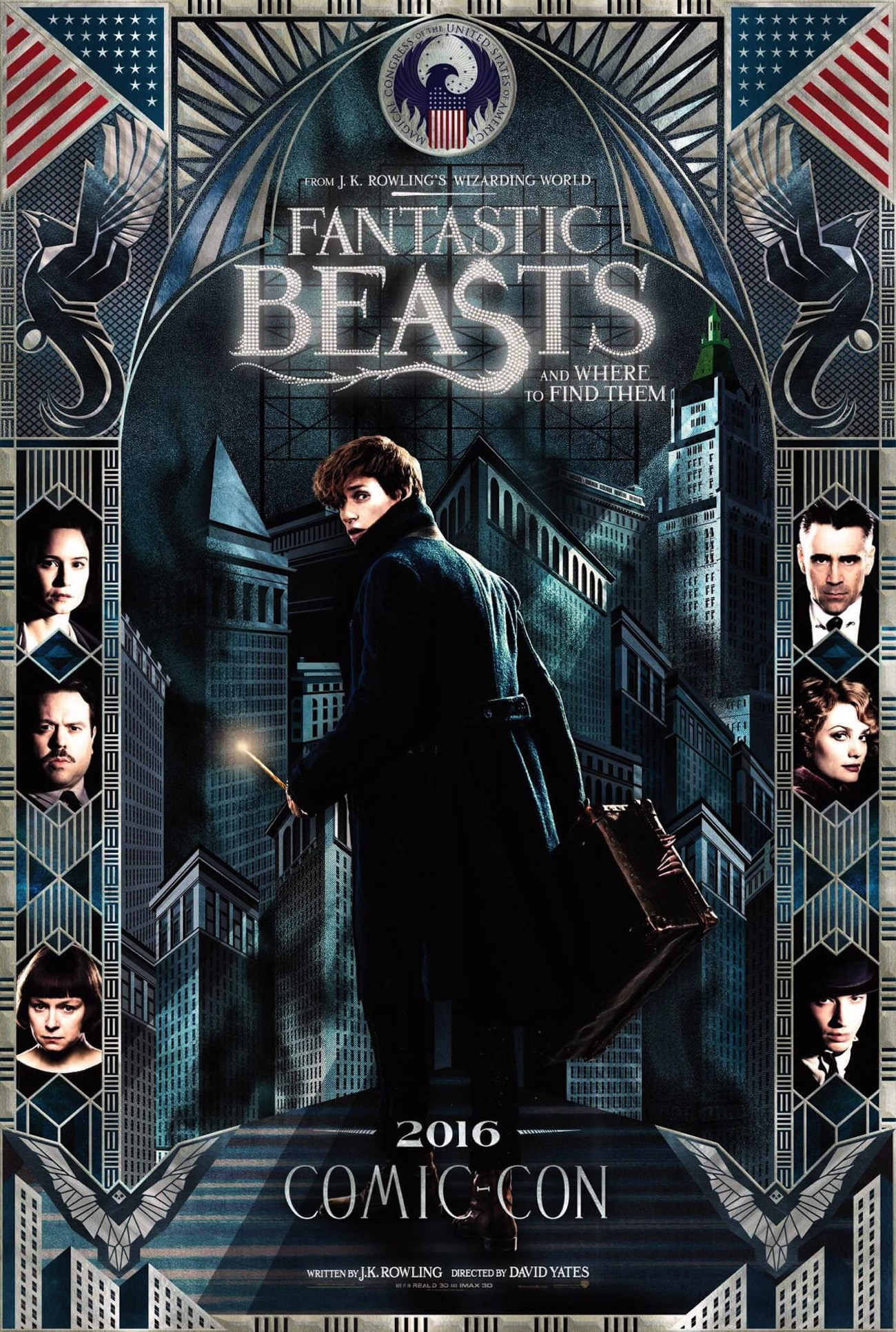 Fantastic beasts and where to find them comic con poster