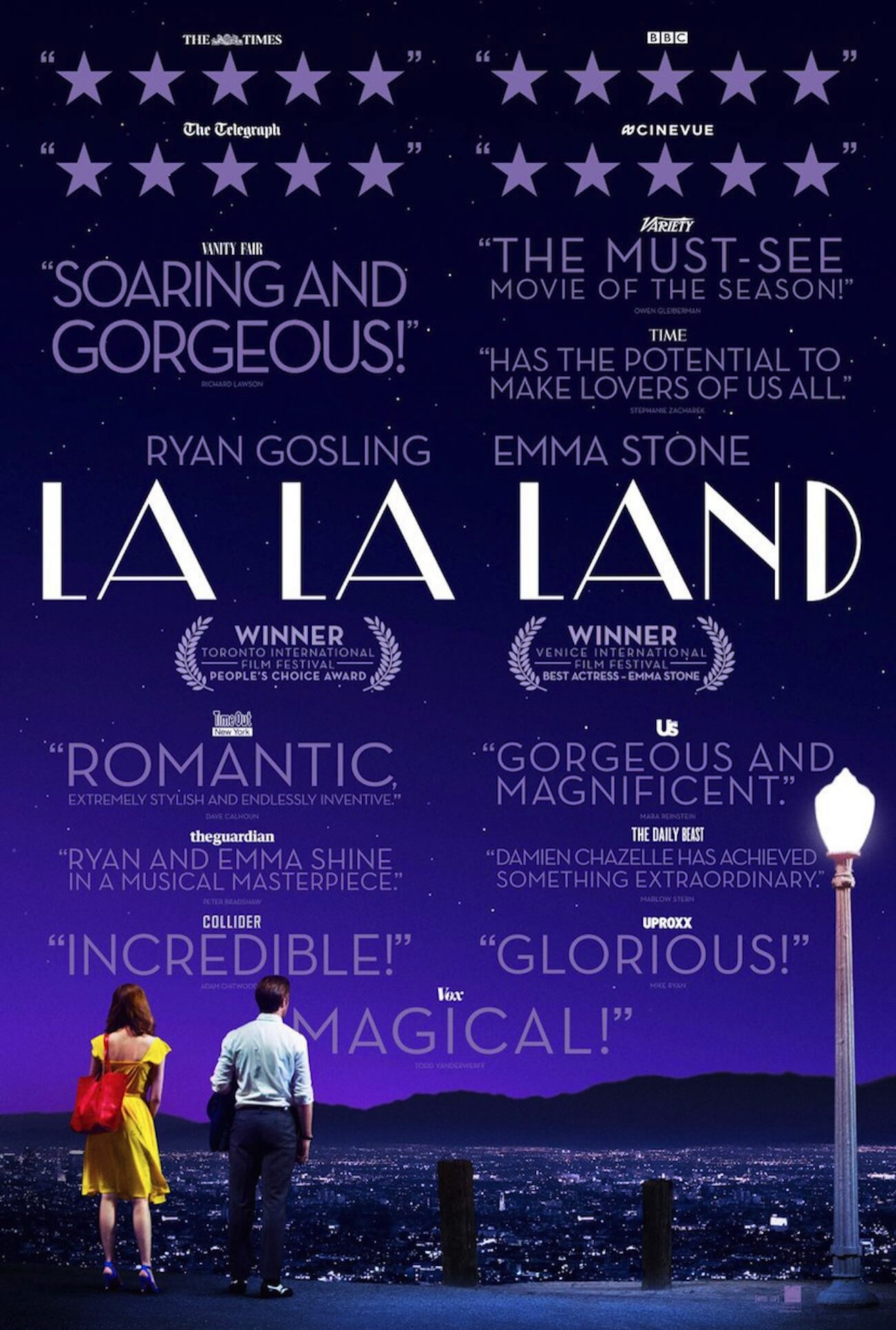 La la land poster blurbs