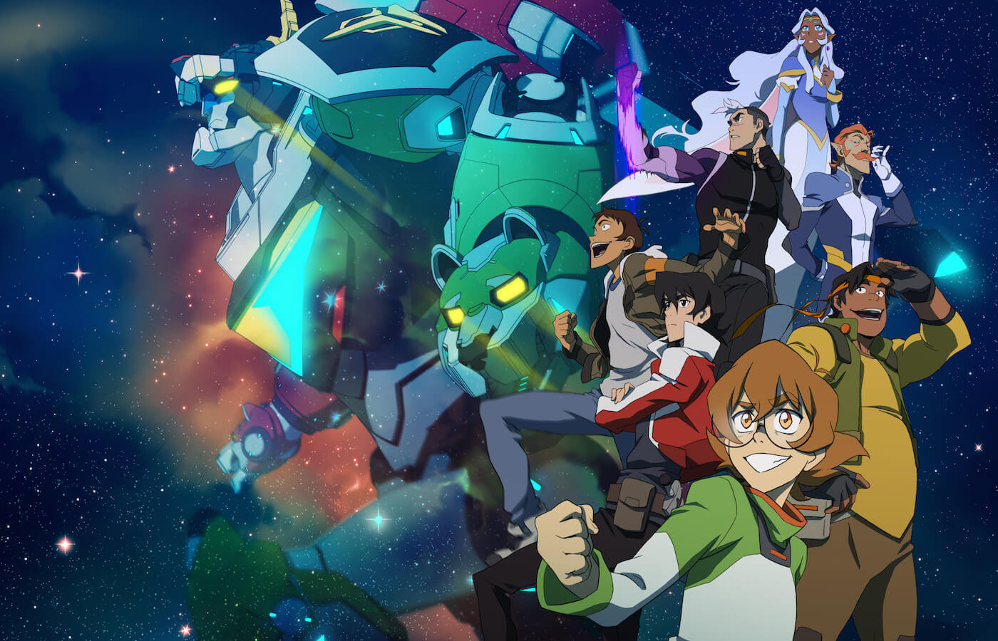 Voltron legendary defender poster comic con 2016