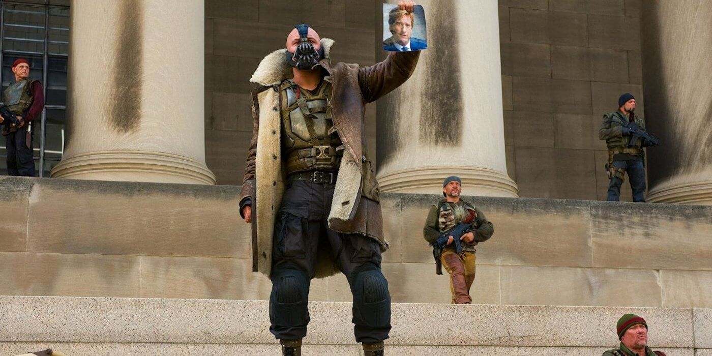 Dark knight rises movie image magazine scan bane