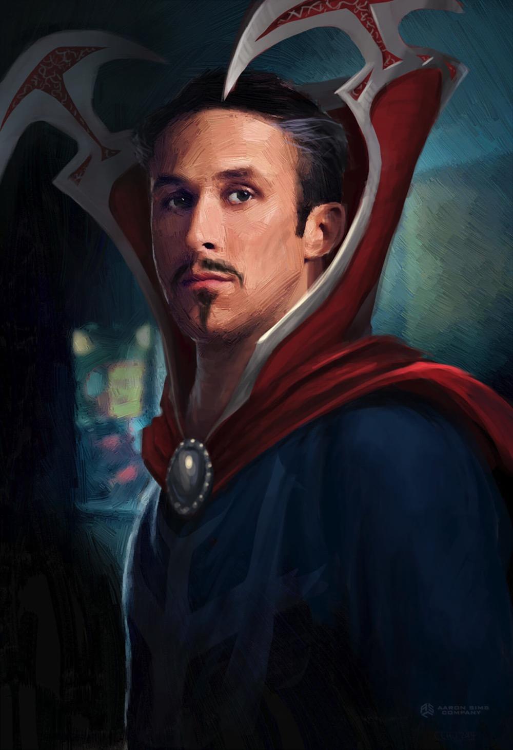 Doctor strange concept art ryan gosling