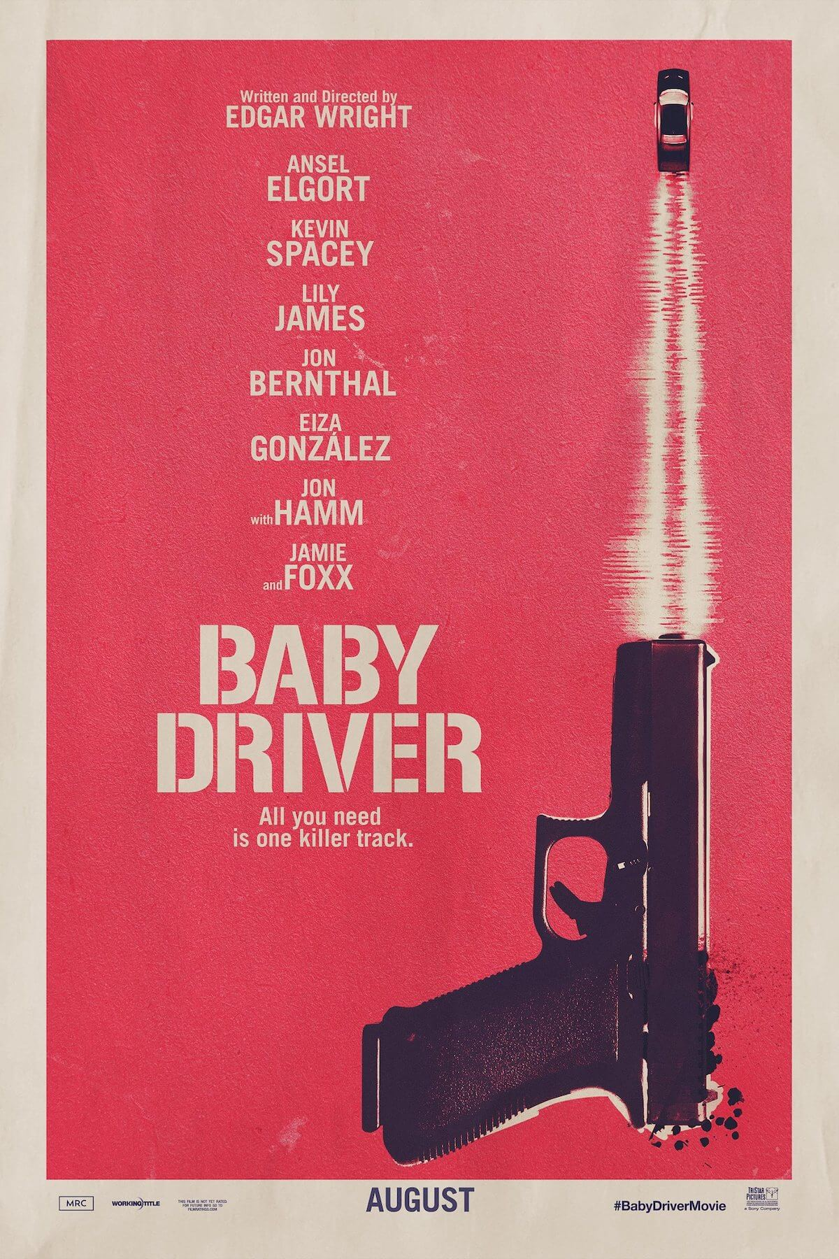 Baby driver teaser poster