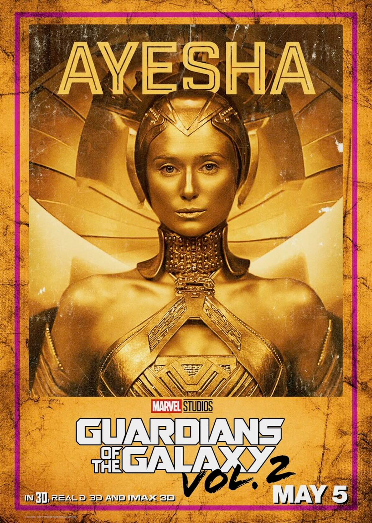 Guardians of the galaxy 2 poster ayesha elizabeth debicki