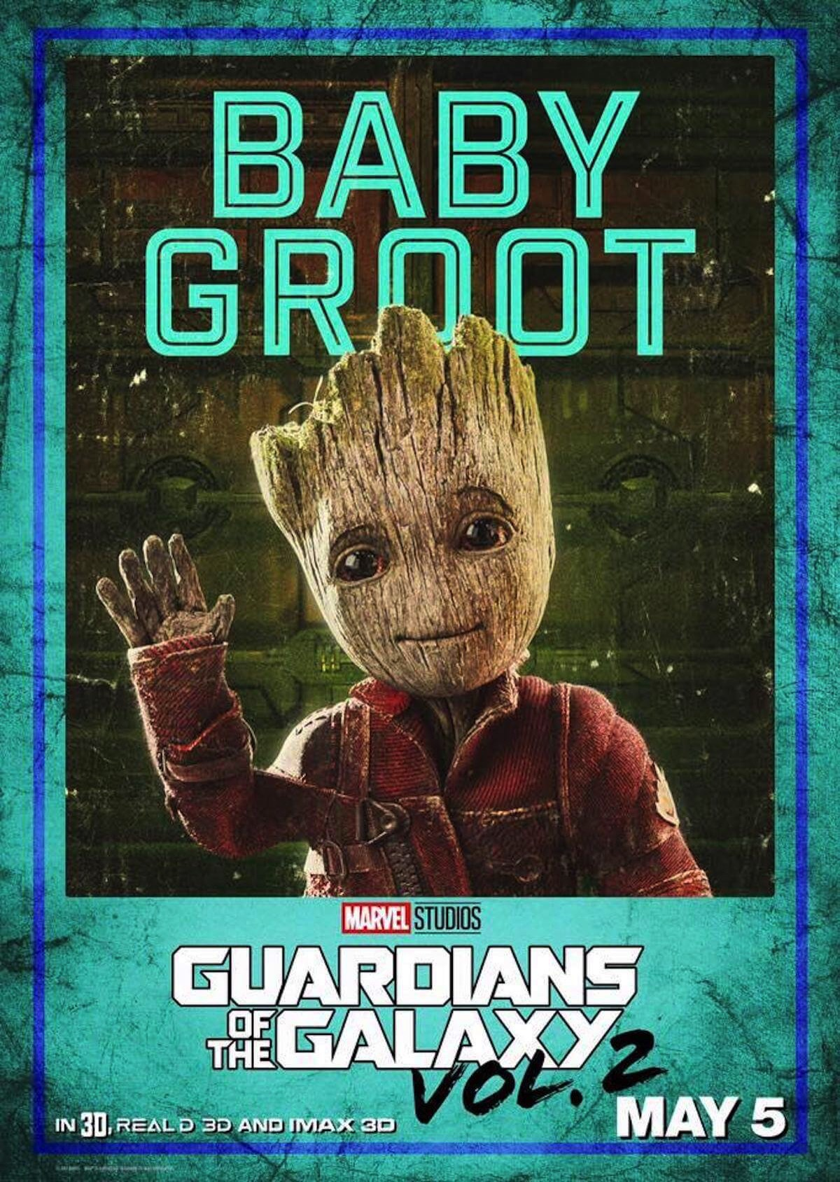 Guardians of the galaxy 2 poster baby groot vin diesel