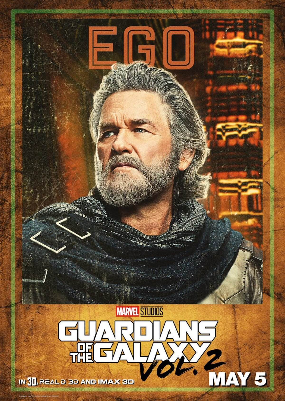 Guardians of the galaxy 2 poster ego kurt russell