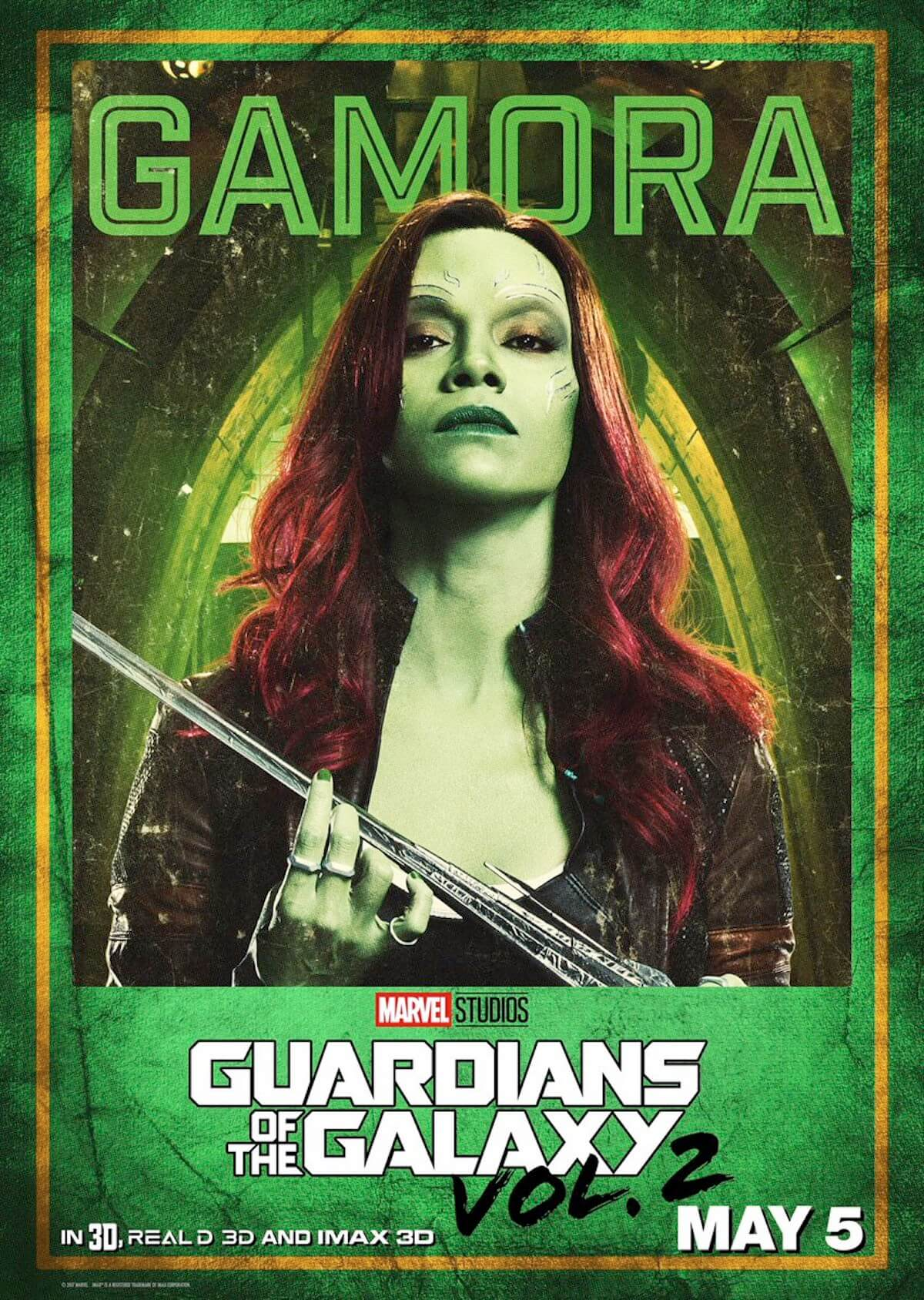 Guardians of the galaxy 2 poster gamora zoe saldana