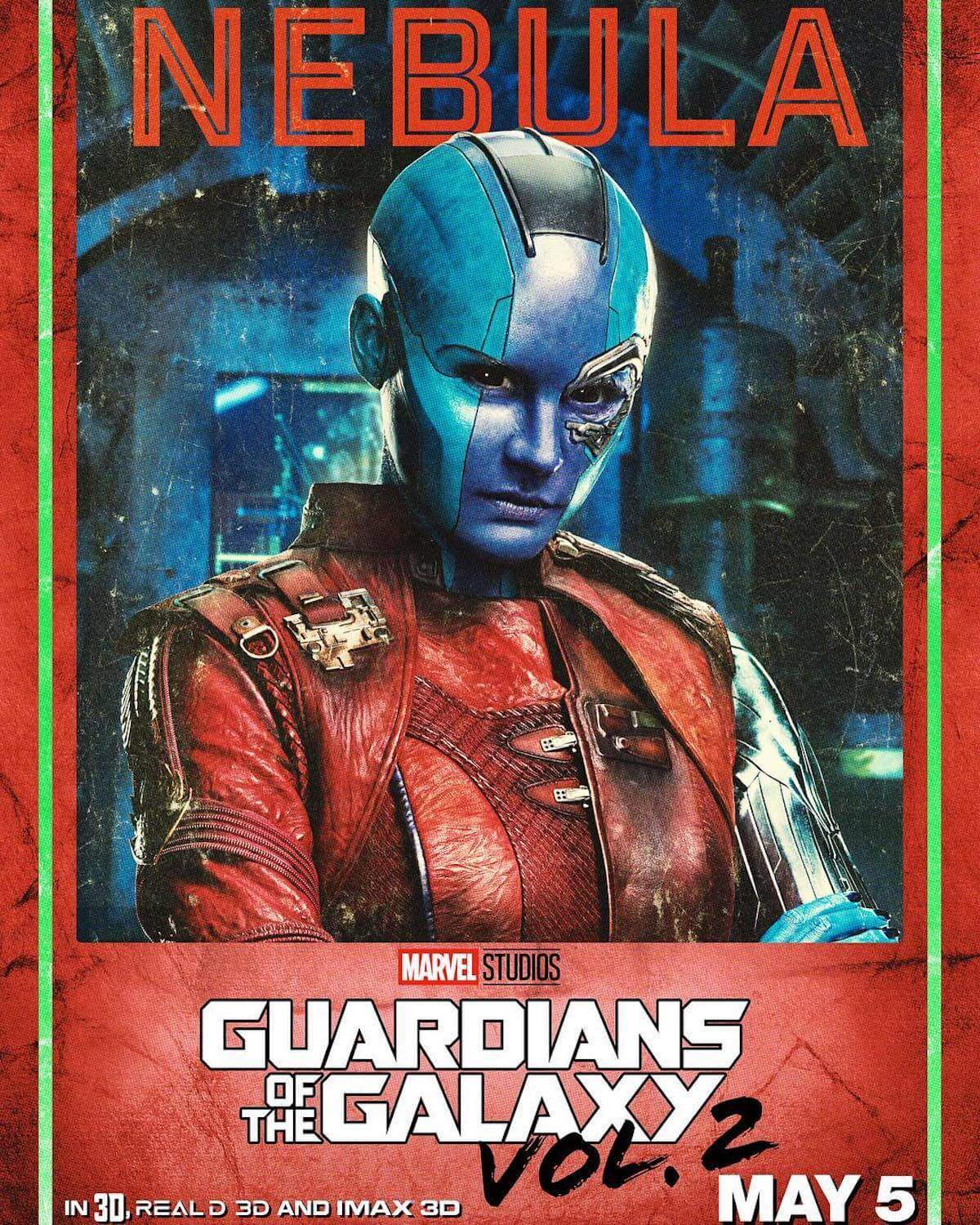 Guardians of the galaxy 2 poster nebula karen gillan