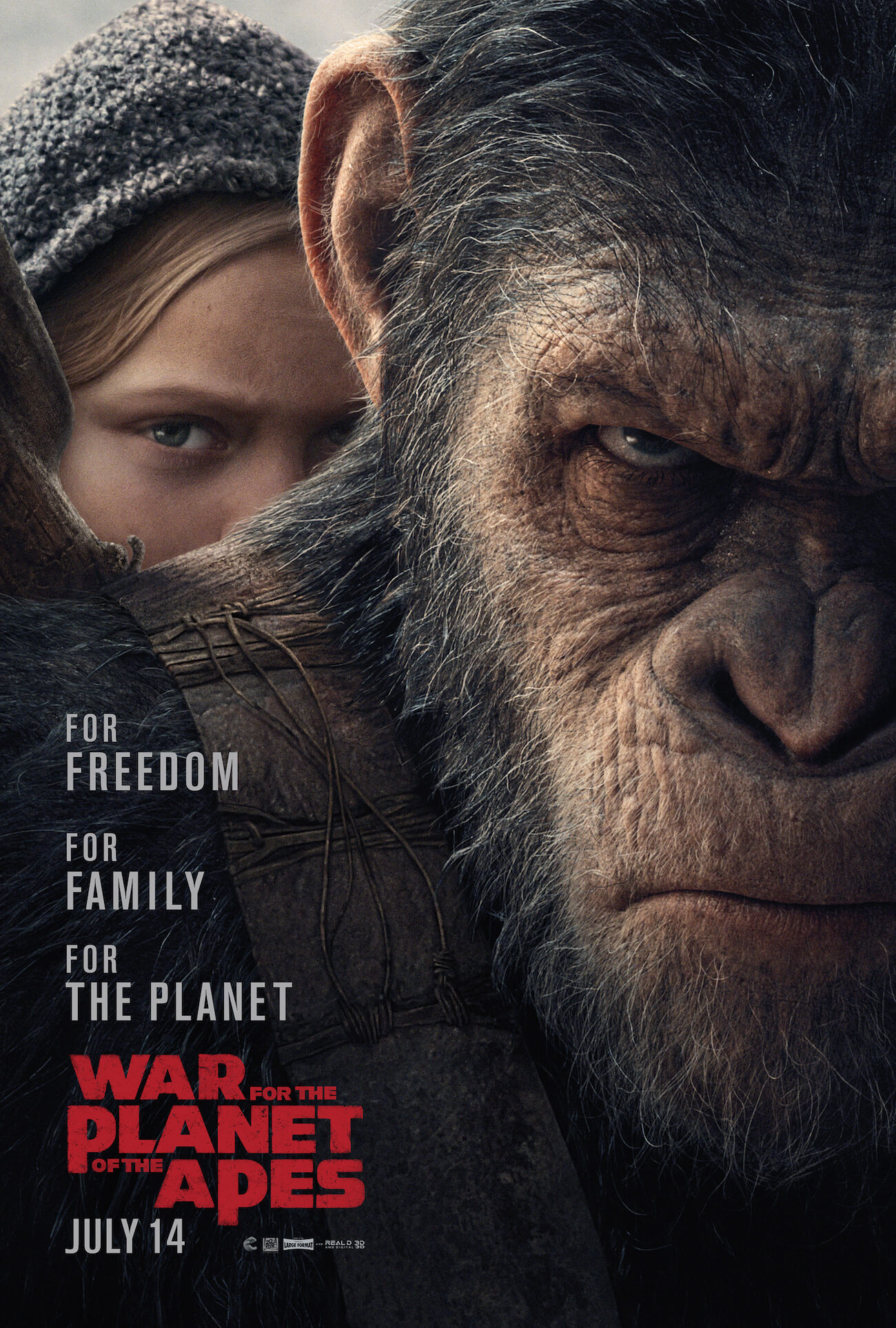 War for the planet of the apes poster new